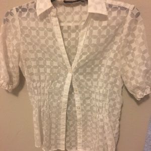 The Limited White Sheer Blouse Size S
